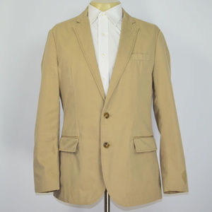 J CREW Cotton Chino Khaki Blazer Sport Coat